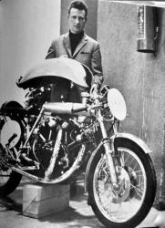 Fritz egli presenting the new egli vincent in 1967