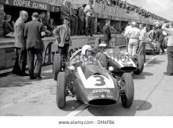 Reventlow in his works cooper in the pits at the british gp silverstone dh6fb6